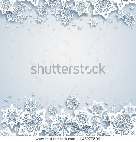 Stock Vector Abstract Winter Background With Snowflakes 145277809