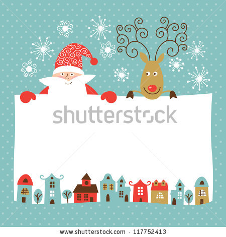 Stock Vector Greeting Christmas And New Year Card 117752413