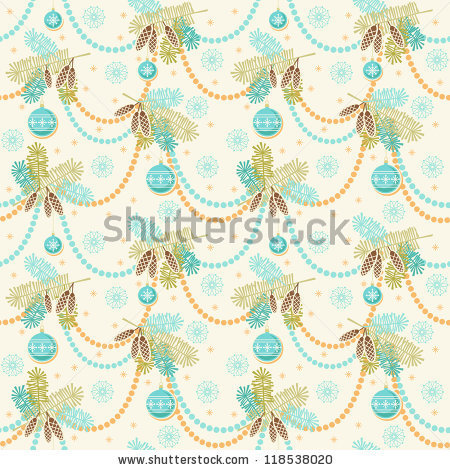 Stock Vector Vector Seamless Christmas Light Pattern New Year S Background With Stylized Branches Of Fir Blue 118538020